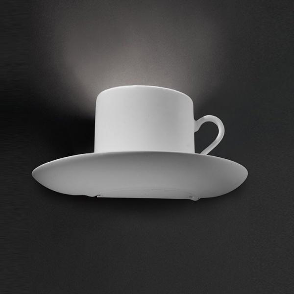 Kop en schotel wandlamp