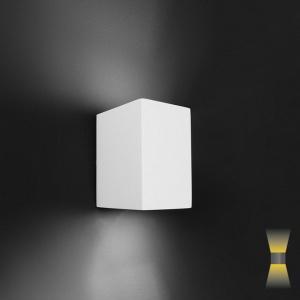 Wandlamp kubus gips